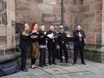 Standkonzert am 21. Oktober 2017 an der Lorenzkirche in Nürnberg